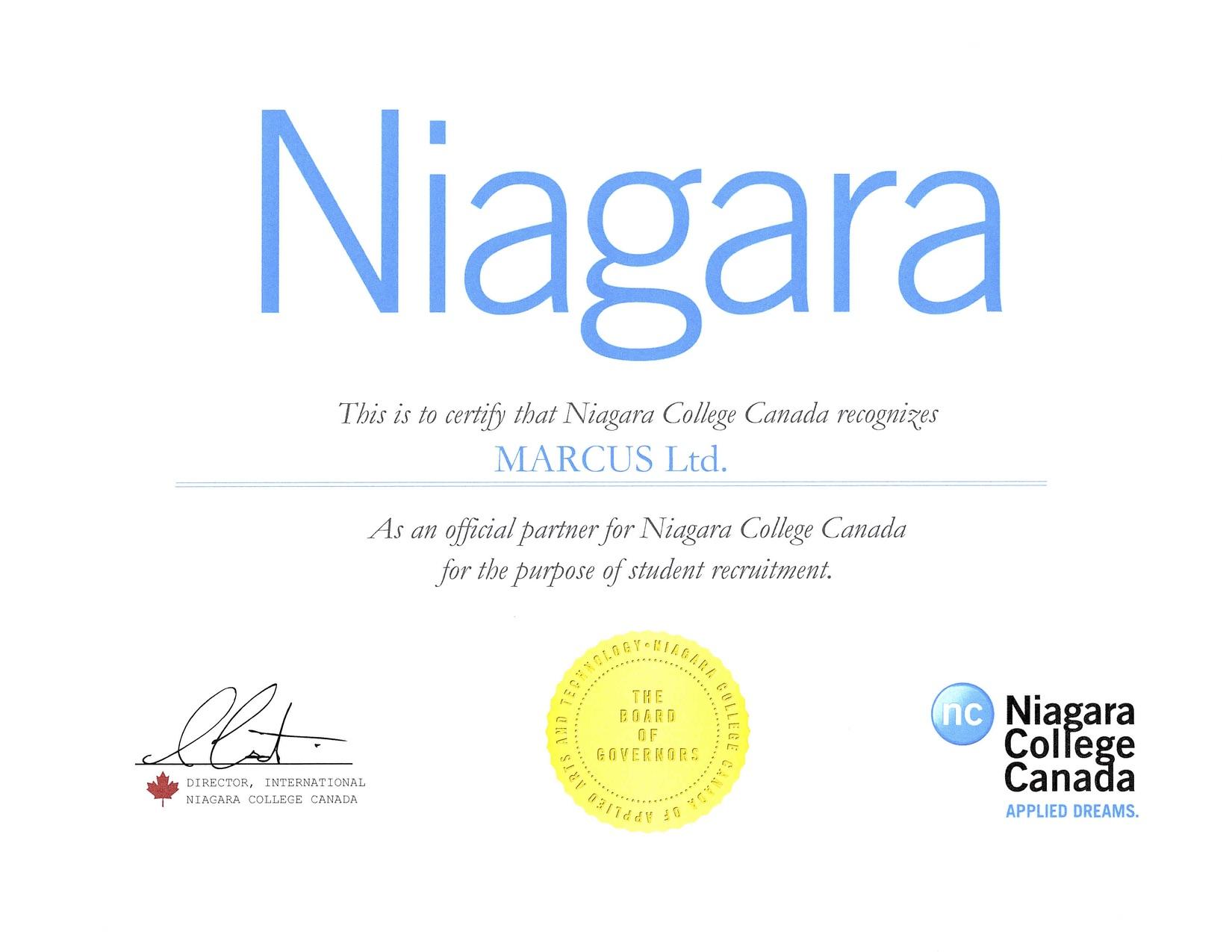 Niagara College Partership