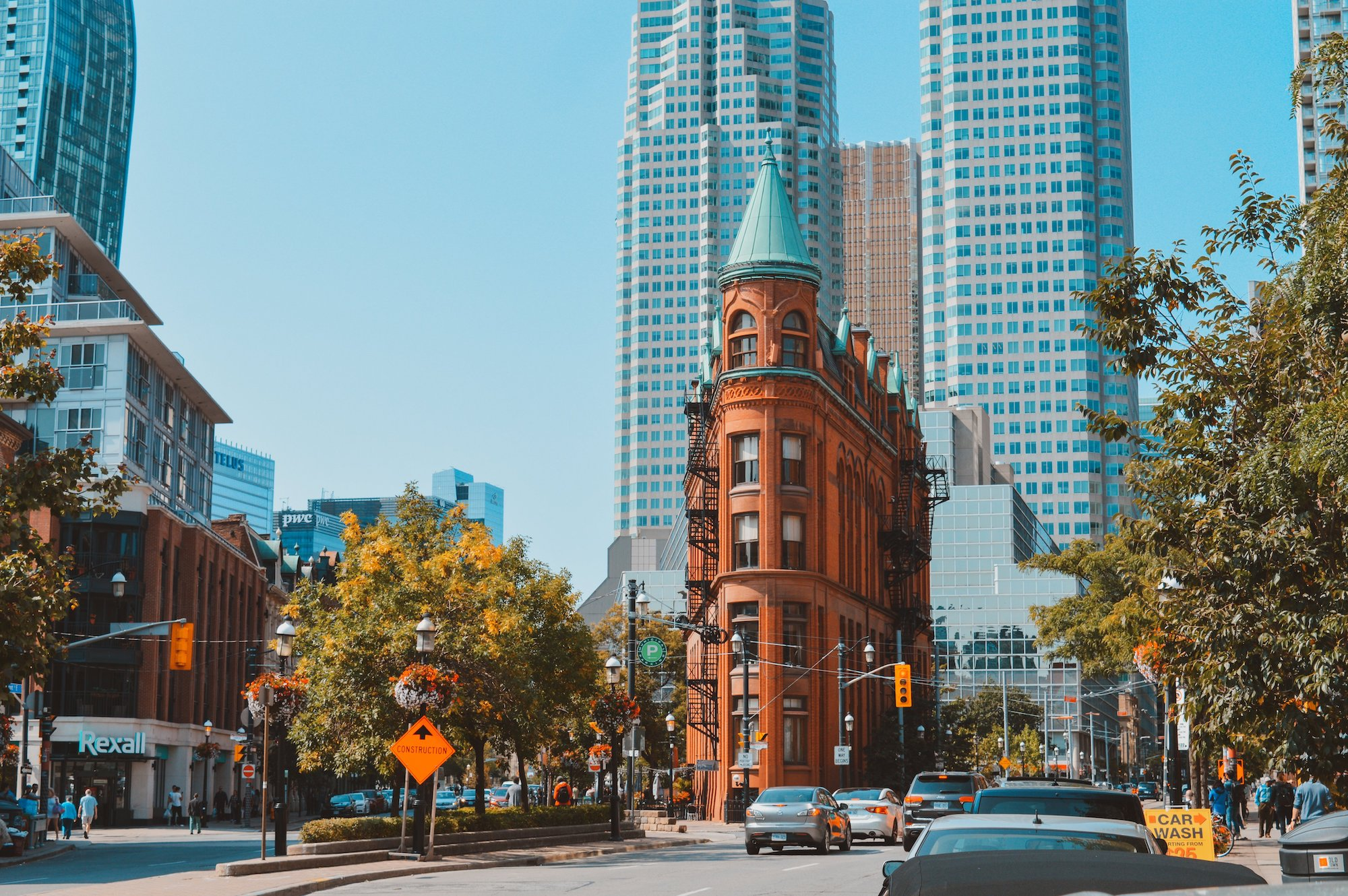 Toronto Flatiron Building In Summer